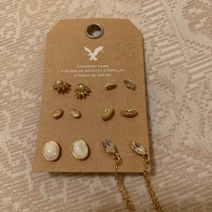Earrings 6 Pair Pierced Posts NWOT